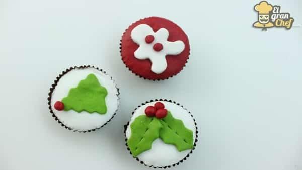Decoración para Cupcakes Navideños