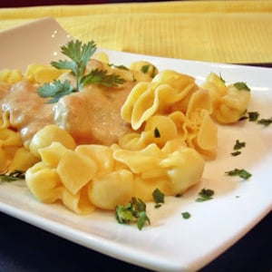 Sacchettini de Trufa y Salsa de Champiñón