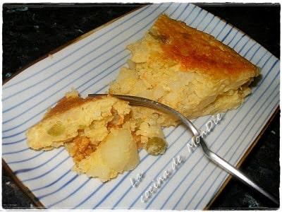 Tortilla con sabor a bacalao