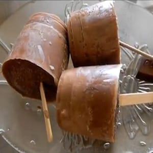Paletas de Chocolate Heladas