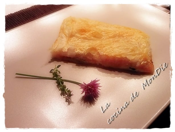 Hojaldre de conservas y queso