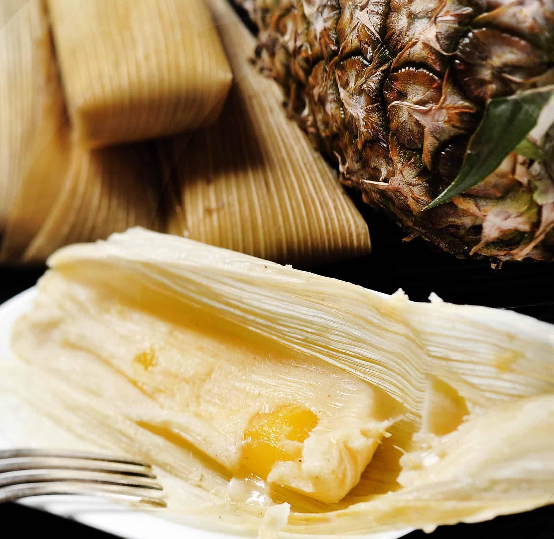 Tamales de Piña con Yogur