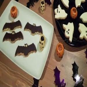 Galletas Fantasma y Murciélago para Halloween