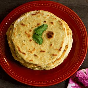 Pan Plano de Curry y Cilantro