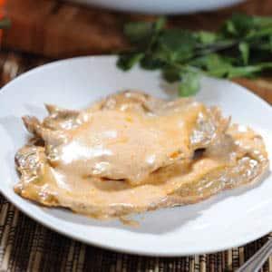 Bistec en Crema de Chipotle