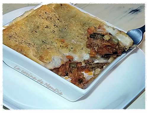 Lasagna de verduras y atún