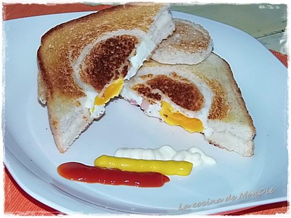 Sándwich de huevo y bacón