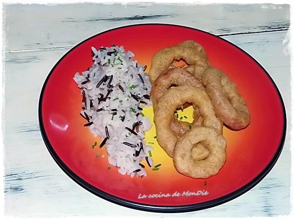 Calamares Gratinados con arroz salvaje