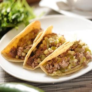 Tacos de Picadillo Verde