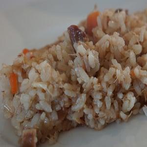 Arroz de cocido de Carne
