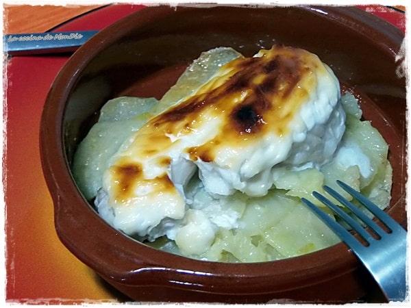 Merluza con patatas y lactonesa
