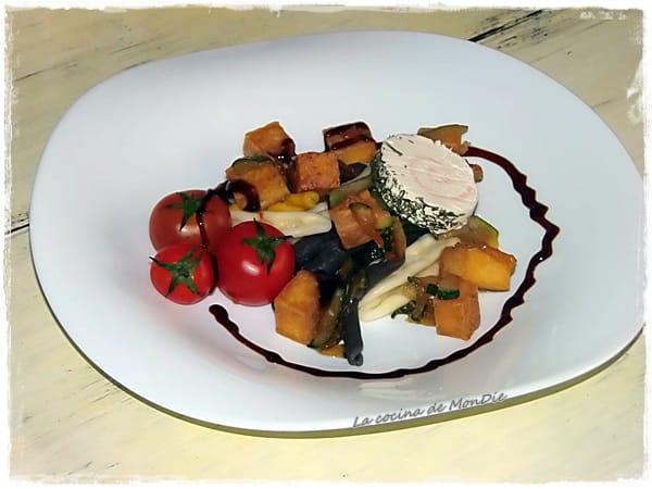 Ensalada de tofu a la plancha