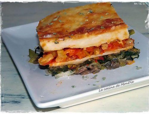 Lasagna vegetal tricolor