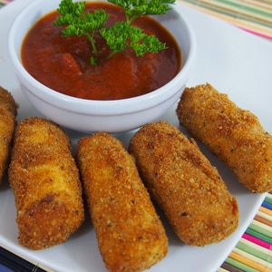 Palitos (Dedos) de Queso Mozzarella