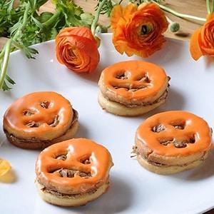 Galletas de Halloween con Crema de Cacahuate y Chocolate