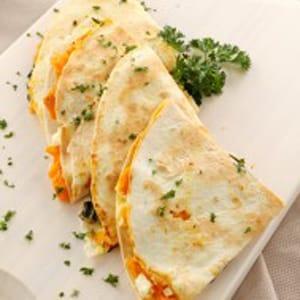 Quesadillas de Pimiento, Cebolla y Queso