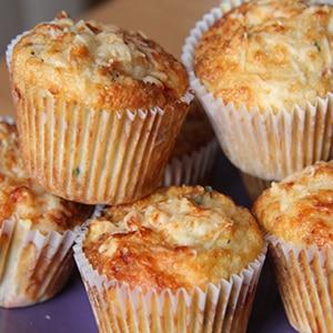 Cupcakes de Parmesano