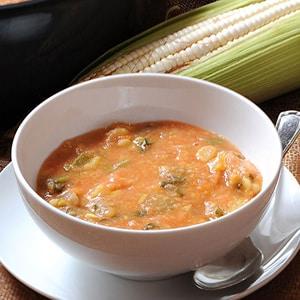 Sopa caliente de Habas