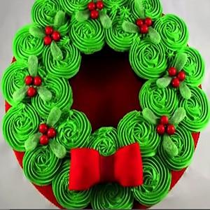 Decorar Cupcakes en Corona Navideña