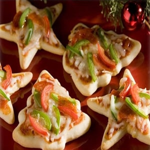 Mini Pizzas Navideñas