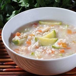 Sopa de Avena con Calabacitas