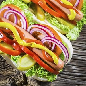 Hot dog con Verduras