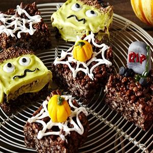 Dulces con Arroz inflado para Halloween