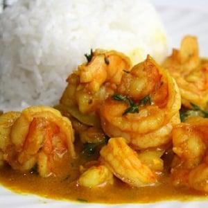 Camarones al Curry