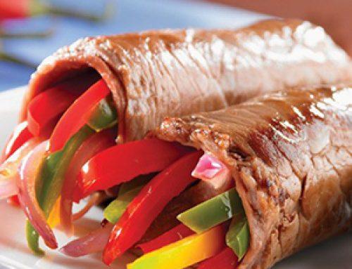 Rollos de Carne con Verduras