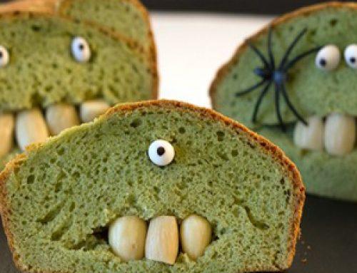 Bizcocho Frankenstein para Halloween