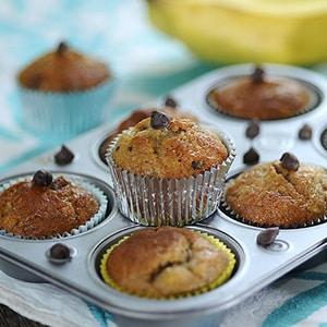 Cup Cakes de Plátano y Chocolate
