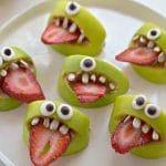 Monstruos de Manzana para Halloween