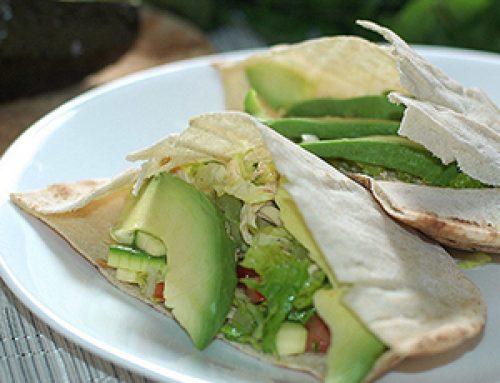 Pan Árabe relleno con Pollo y Verduras