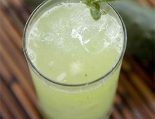 Agua de Pepino con Limón y Menta