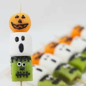 Brochetas de Halloween