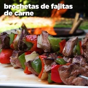 Brochetas de Fajitas de Carne