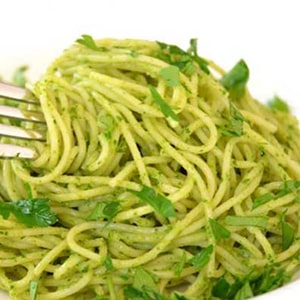 Espagueti Verde con Chile Poblano